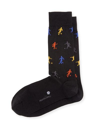 Soccer Crew Socks, Black