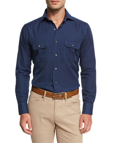 Vintage Discovery Shirt, Barchetta Blue
