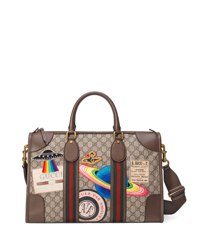 Gucci Courier Soft GG Supreme Duffle Bag