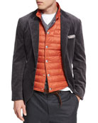 Corduroy Sport Jacket, Dark Gray