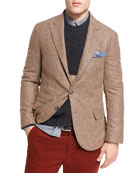 Alpaca-Wool Sport Jacket, Light Brown