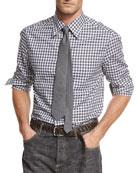 Check Cotton Oxford Shirt