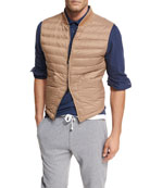 Zip-Front Fitted Vest