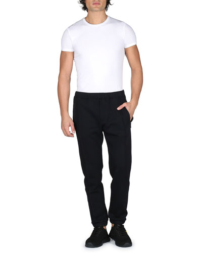 Track-Stripe Jogger Pants, Black