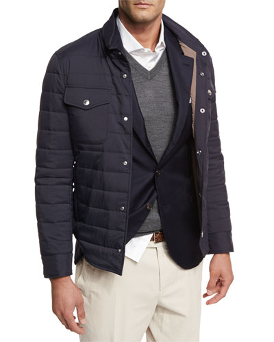 Milano Quilted Shirt Jacket