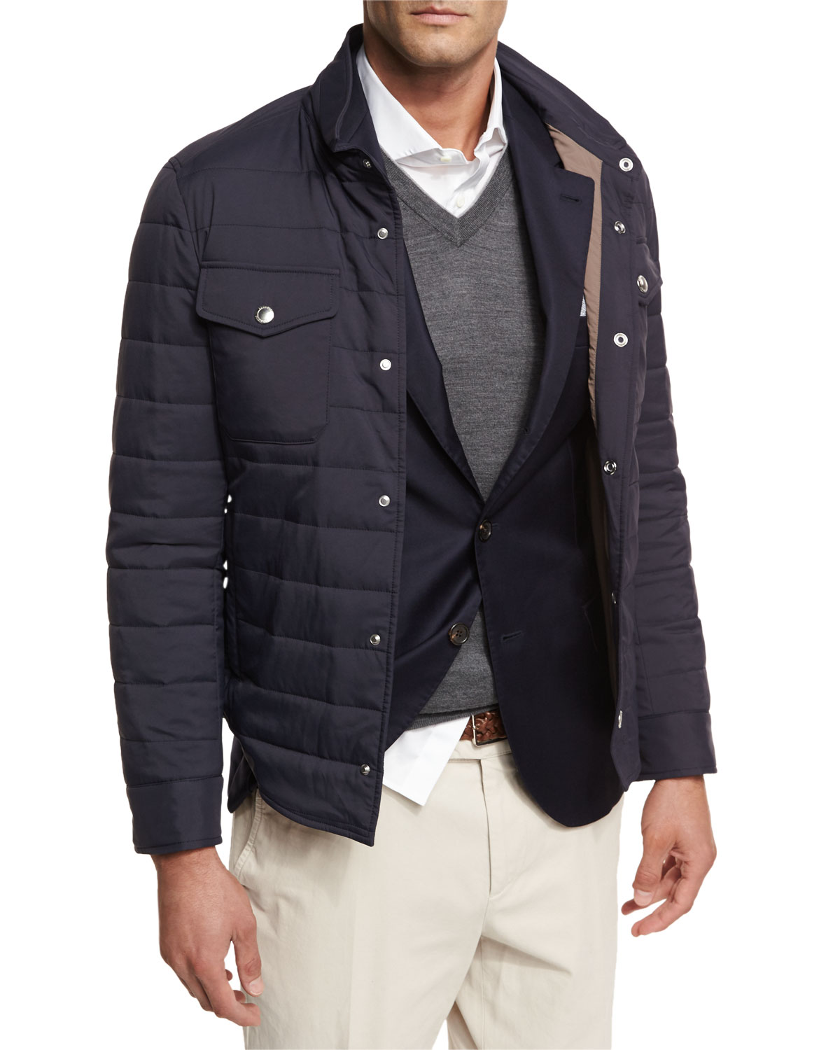 Men's Milano Quilted Shirt Jacket