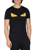 Monster Eyes Crewneck T-Shirt, Black