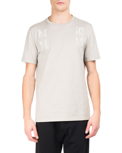 MM 10 14 Logo T-Shirt, Stone Gray