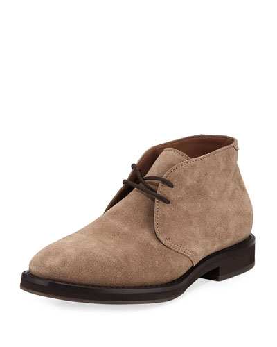 Men's Suede Desert Boot, Gray