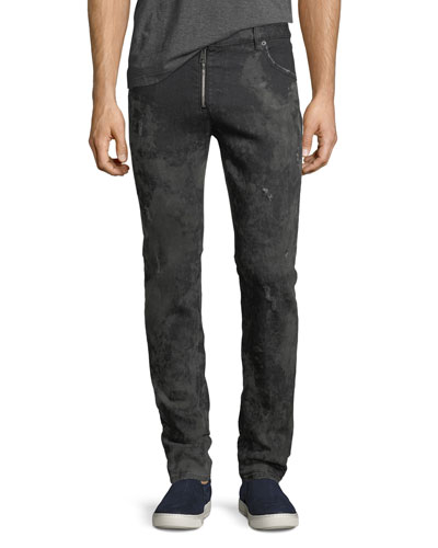 Muddy Slim Denim Biker Jeans