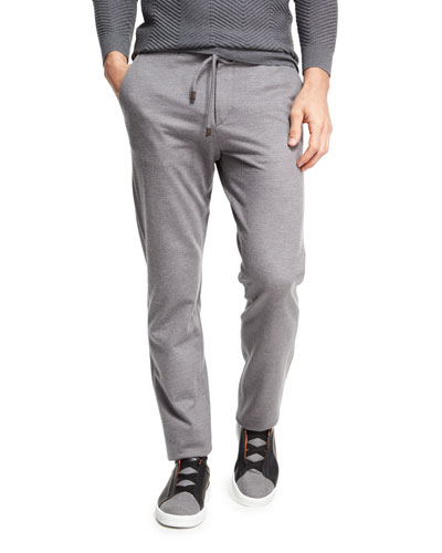 Drawstring Jogger Pants, Dark Gray