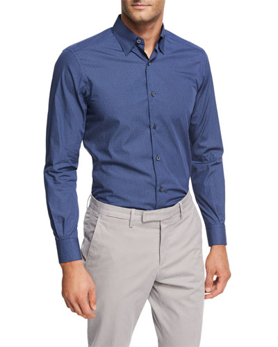 Geometric Jacquard Cotton Shirt