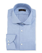 Gold Label Textured Cotton Dress Shirt, Blue