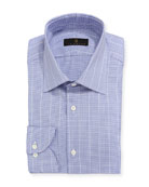 Mini-Check Windowpane Dress Shirt