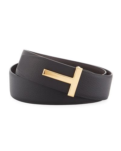 21dec8ec Quick Look. TOM FORD · T-Buckle Reversible Leather Belt ...