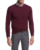 Collection Merino-Silk Crewneck Sweater