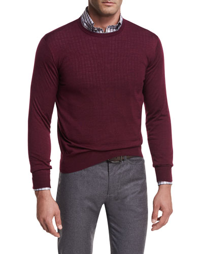 Collection Merino-Silk Crewneck Sweater