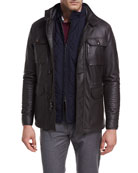 Woodland Deerskin Leather Discovery Field Jacket