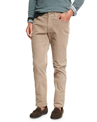 Five-Pocket Stretch Corduroy Pants