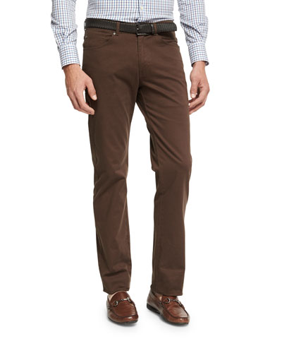 Crown Five-Pocket Stretch Sateen Pants, Canopy Brown