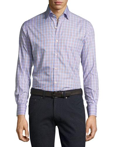 Crown Alpine Plaid Cotton Shirt, Purple