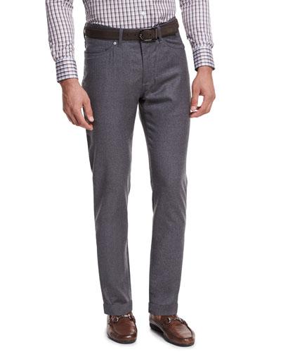 Wintertime Flannel Five-Pocket Pants