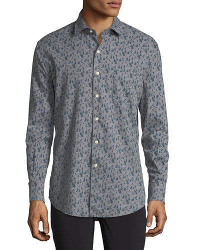 Snow Hares Flannel Sport Shirt
