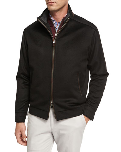 Westport Wool-Cashmere Jacket, Black