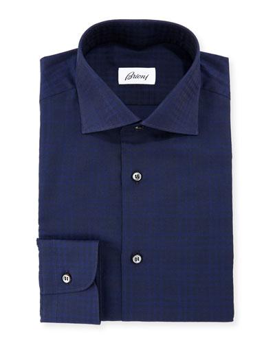 Tonal Check Dress Shirt