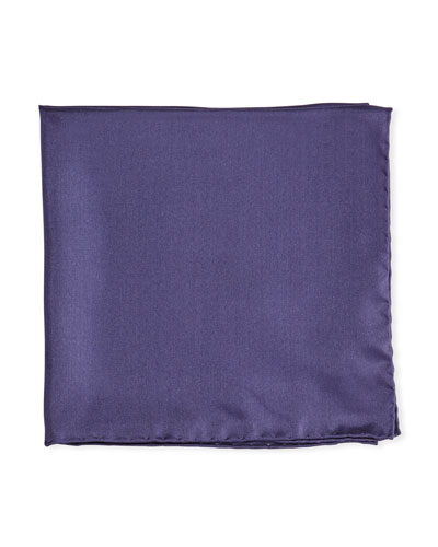 Solid Silk Twill Pocket Square