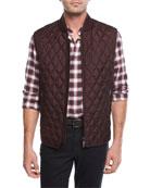 Lightweight Quilted Silk Vest
