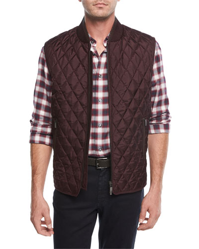 Lightweight Quilted Silk Vest