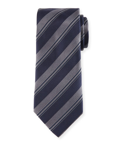 Wide Rep-Stripe Tie