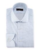 Check Dress Shirt, Blue/White/Green