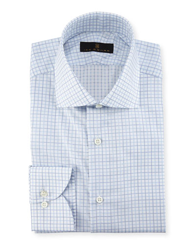 Check Dress Shirt, Blue/White/Green