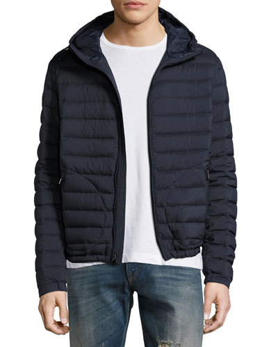 Barton Hooded Down Jacket, Navy Blue