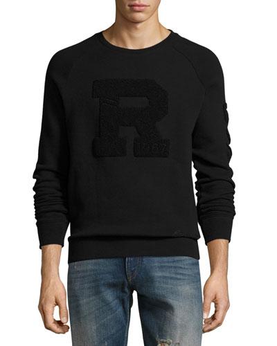 Jersey Varsity Sweatshirt, Black