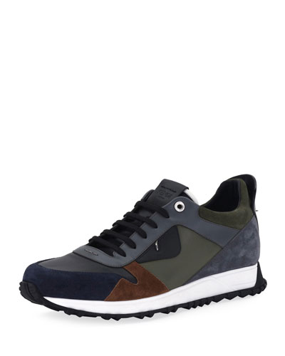 Monster Leather & Suede Running Sneaker
