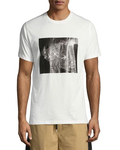 Aircraft Carrier Cotton T-Shirt, White