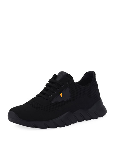 Bag Bugs Knit Running Sneaker, Black
