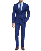 Twill Natural Stretch Wool Two-Piece Suit