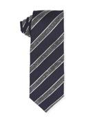 Striped Wool/Silk/Cotton Tie