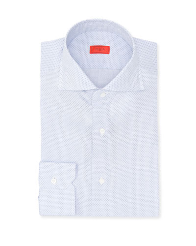 Pindot Cotton Dress Shirt