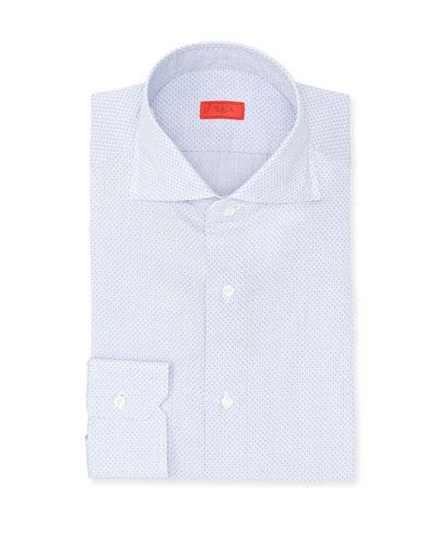 Pindot Cotton Dress Shirt