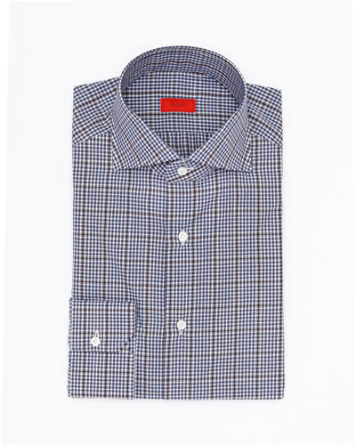 Overcheck Cotton Dress Shirt