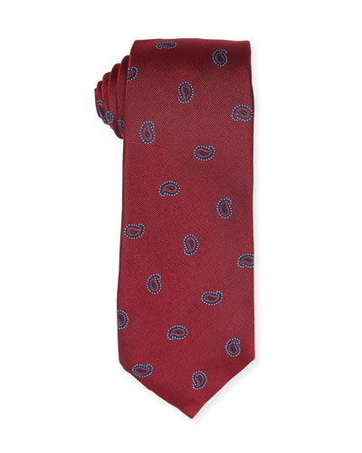 Small-Paisley Silk Tie