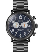 47mm Runwell Chronograph Watch, Navy