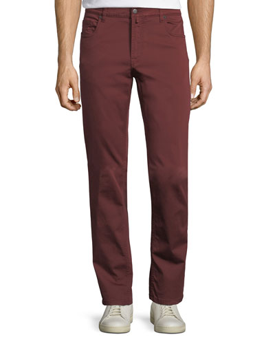 Stretch-Cotton Five-Pocket Pants