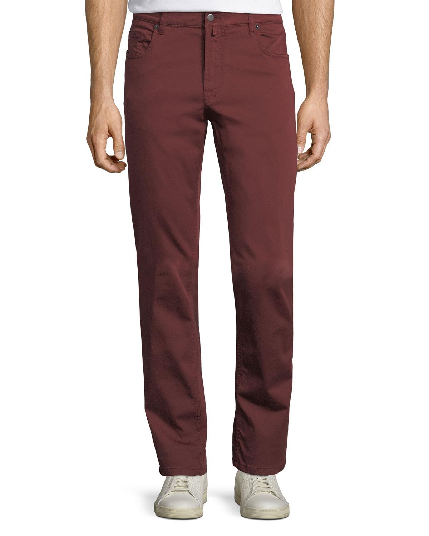 Stretch-Cotton Five-Pocket Pants