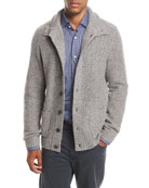 Cashmere Mock-Neck Cardigan